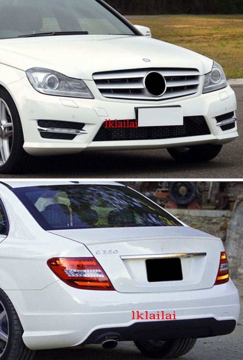 Mercedes Benz C-Class W204 '12 Sport Package Front+Rear Bumper PP