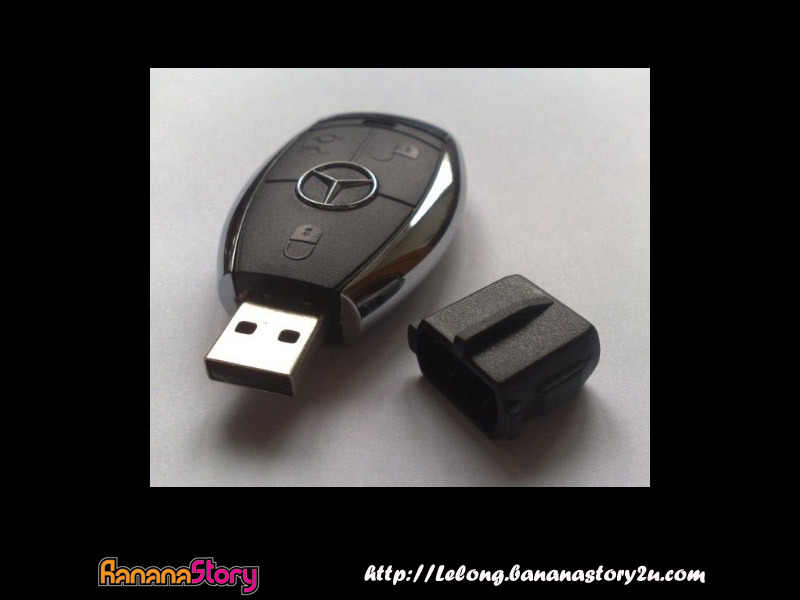 Mercedes benz car key chain x usb thumb drive 4gb new for Key for mercedes benz cost