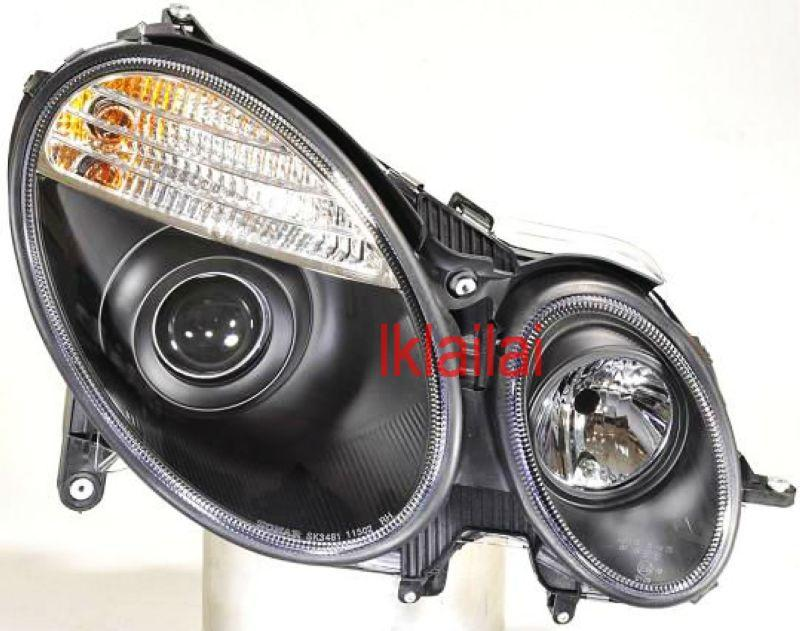 Mercedes Benz E-Class W211 '03 Projector Head Lamp Motor Black 1-pair