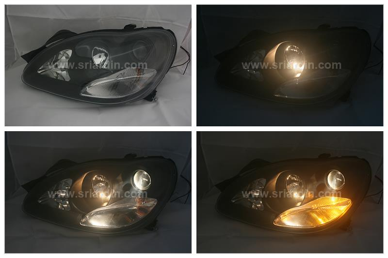 Mercedes Benz S-Class W220 98-05 Black Projector Headlamp