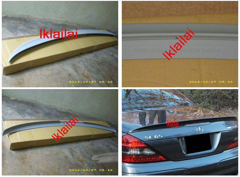 Mercedes Benz SL R230 `02-07 Rear Trunk Spoiler AM Look ABS