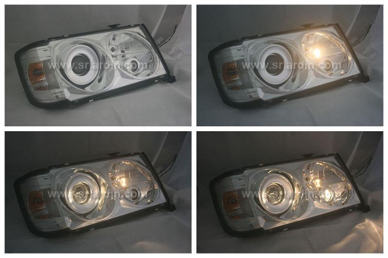 MERCEDES BENZ W124 CHROME PROJECTOR HEADLAMP