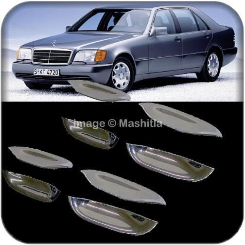 Mercedes Benz W140 S Class Chrome Door Handle Shell Trims Cover