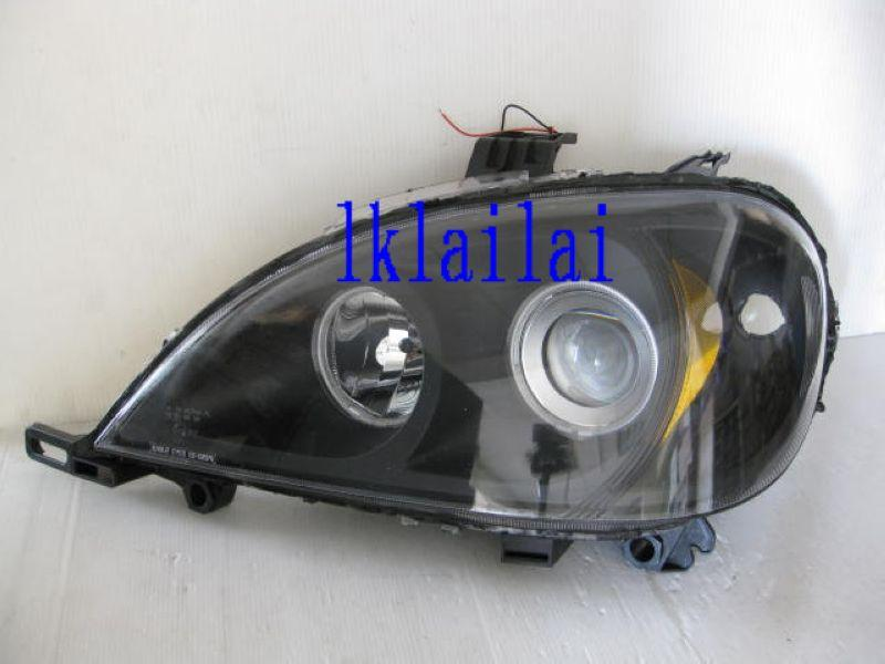 Mercedes Benz W163 '98-04 Projector Head Lamp CCFL Ring [Black Housing