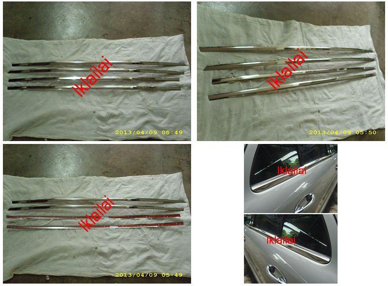 Mercedes Benz W204 `07 Door Window Moulding Chrome S/Steel [4pcs/set]