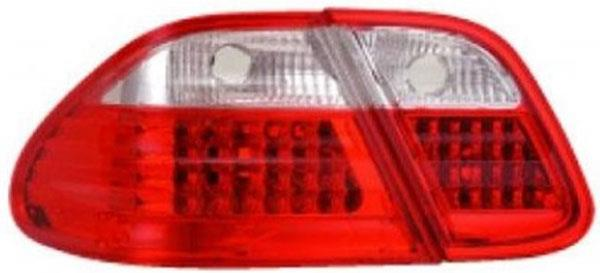 MERCEDES BENZ W208 CLK 1997 - 2002 EAGLE EYES Red/ Clear LED Tail Lamp