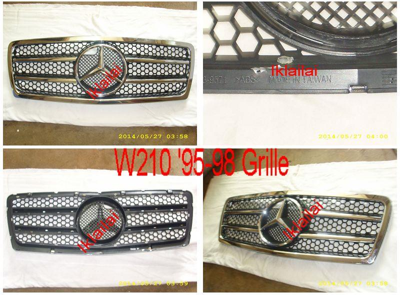 Mercedes Benz W210 '95-98 / '99-02 AMG Style Front Grille Chrome
