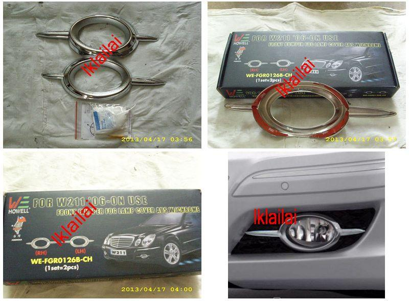 Mercedes Benz W211 `03-09 06 Fog Lamp Cover Chrome [2pcs/set] [W211-FL