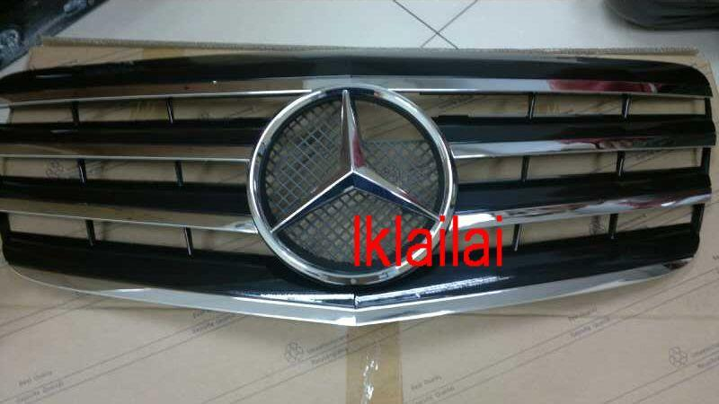 Mercedes Benz W211 '07 CL Style Front Grille [Black-Chrome]