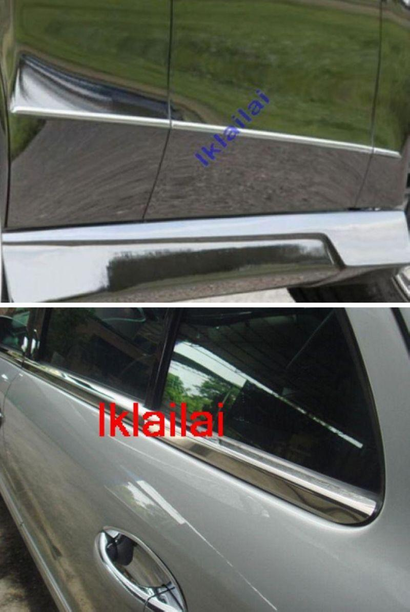 Mercedes Benz W212 `09-10 Door & Window Moulding Chrome S/Steel [10pcs