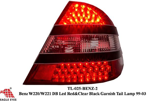 MERCEDES BENZ W220 S-Class 1999-05 EAGLE EYES Red/ Smoke LED Tail Lamp