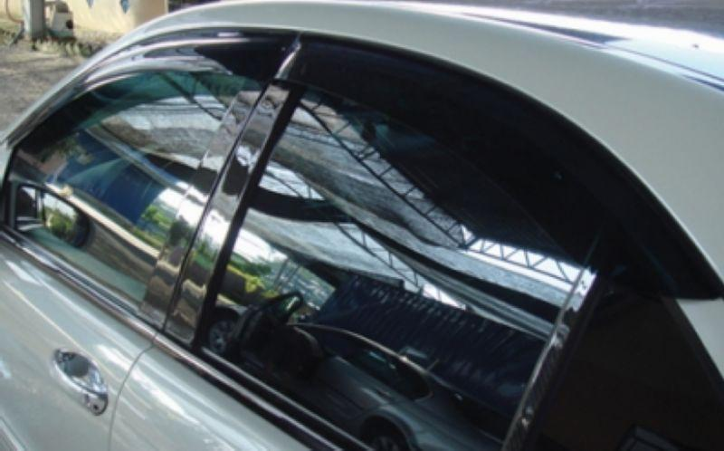 Mercedes W204 '07-12 Air Press Door Visor With Chrome Lining 4pcs/set