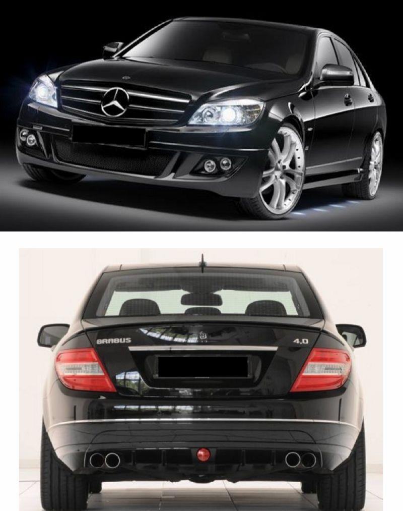 Mercedes W204 [Front Bumper + Side Skirt + Rear LIP] Body Kit