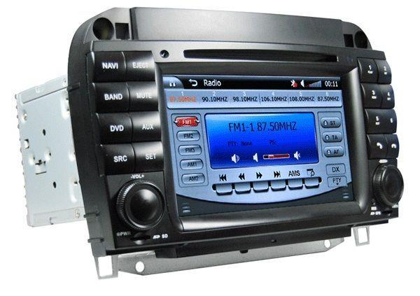"MERCEDES W220 S-Class 1999-05 DLAA 7"" Double Din GPS DVD SD TV Player"