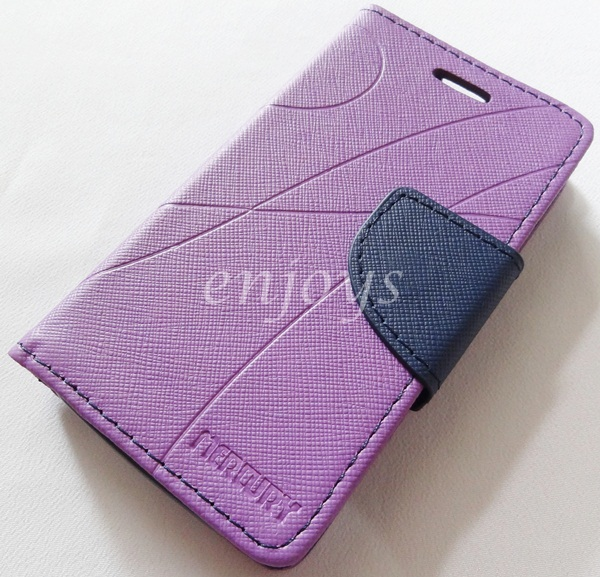 MERCURY Fancy Diary Book Case Cover Pouch Lenovo A269 A269i ~Purple