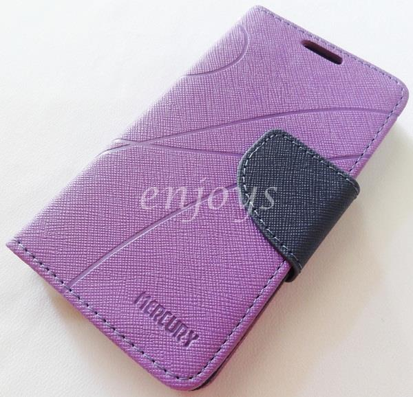 MERCURY Fancy Diary Book Case Cover Pouch Lenovo A390 ~PURPLE
