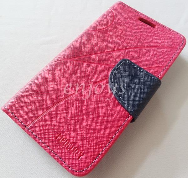 MERCURY Fancy Diary Book Case Cover Pouch Lenovo A516 ~Hotpink