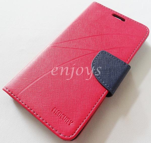 MERCURY Fancy Diary Book Case Cover Pouch for Lenovo A680 ~HOTPINK