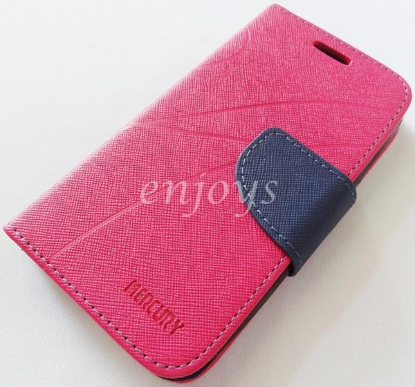 MERCURY Fancy Diary Book Case Cover Pouch Lenovo A706 ~Hotpink