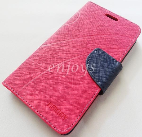 MERCURY Fancy Diary Book Case Cover Pouch Lenovo A859 ~Hotpink