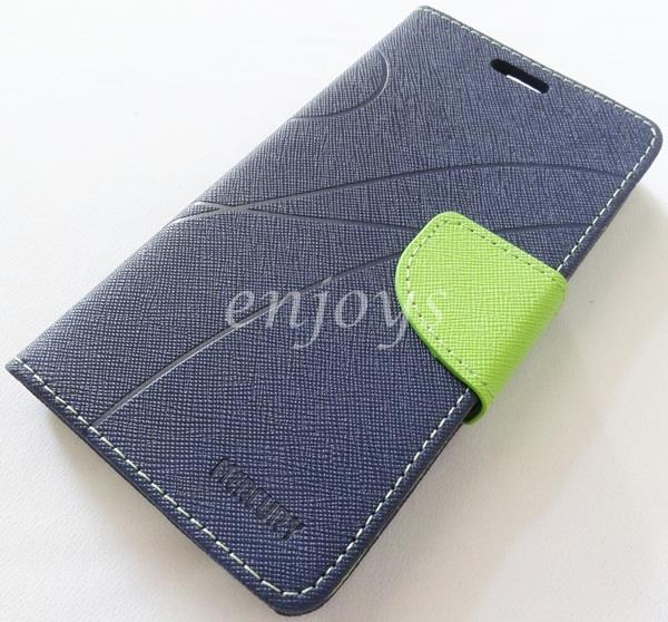 MERCURY Fancy Diary Book Case Cover Pouch Lenovo IdeaPhone A656 ~Navy