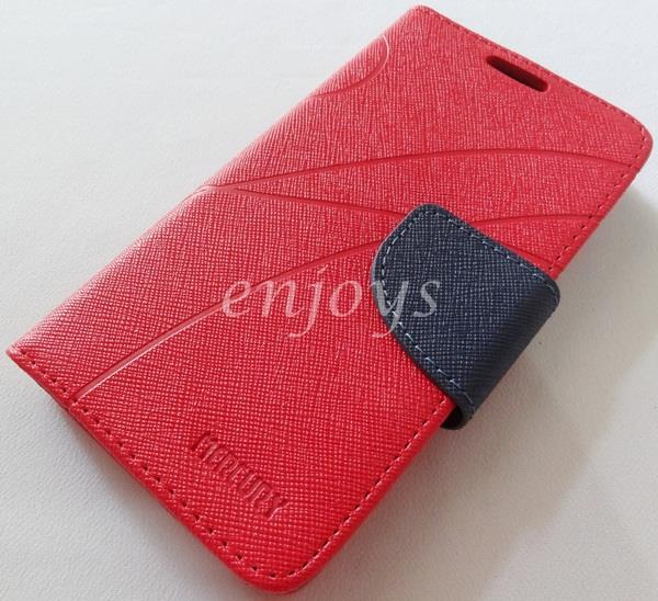 MERCURY Fancy Diary Book Case Cover Pouch Lenovo S720 ~Red