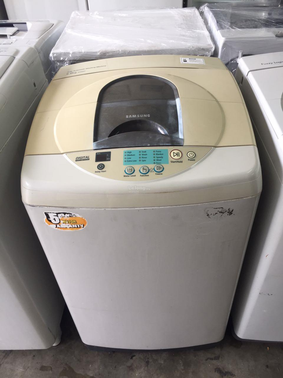 Mesin Basuh Samsung Top Fully Auto Washer Load Refurbish Recondition