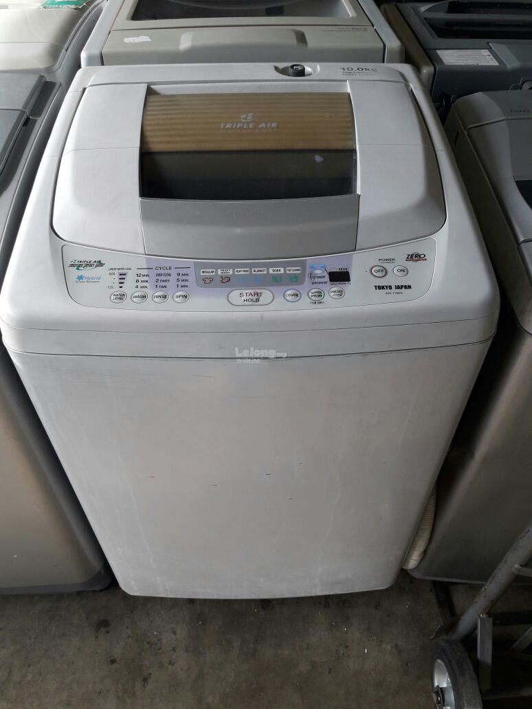 Mesin Basuh Toshiba 10kg Automatic Washing Machine Top Load Refurbish