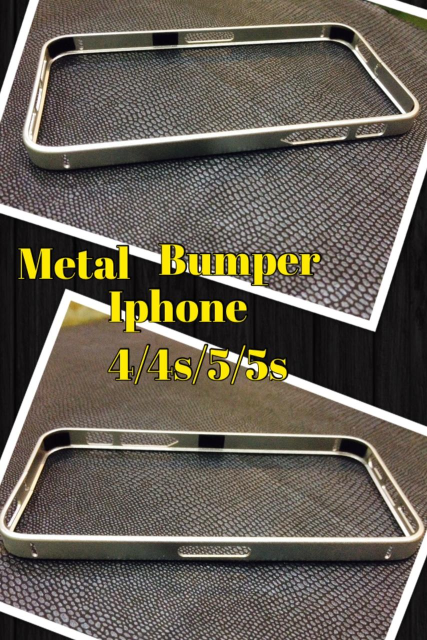 Metal Bumper For Iphone 4/4S/5//5S SILVER.