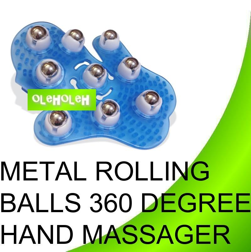 Metal Rolling Balls 360 degree Manual Hand Massager Glove