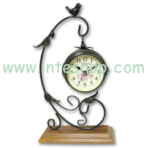 Metal Scroll Classic DOUBLE SIDES Numeral Flower Clock4