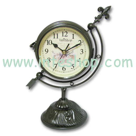 Metal Scroll Classic DOUBLE SIDES Numeral Flower Clock5