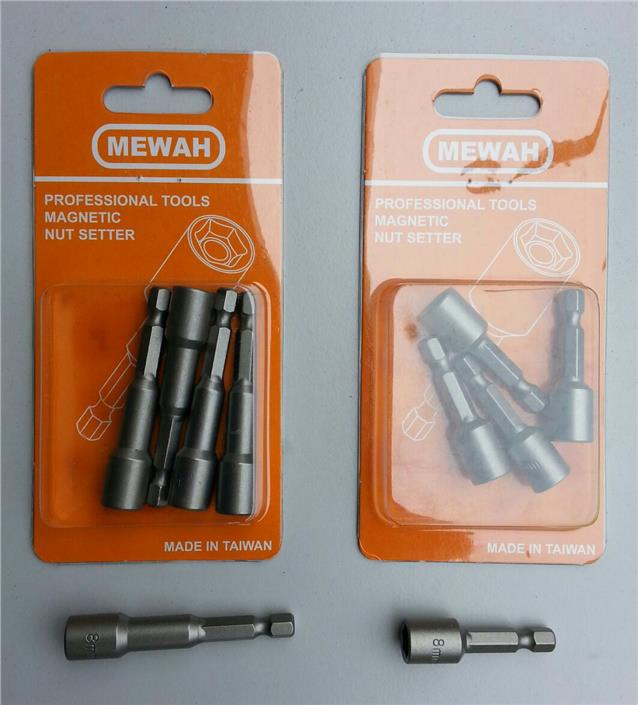MEWAH MAGNET HEX SOCKET NUT SETTER BOX BITS M8x45mm M8x65mm (MADE IN T..