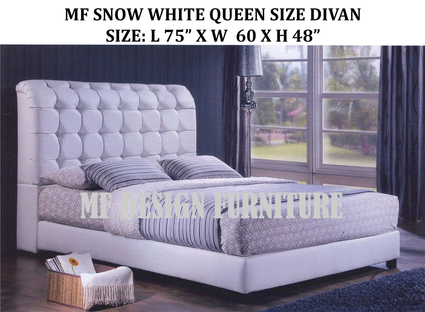 Mf design snow white queen si end 4 12 2016 6 15 pm myt for Queen size divan