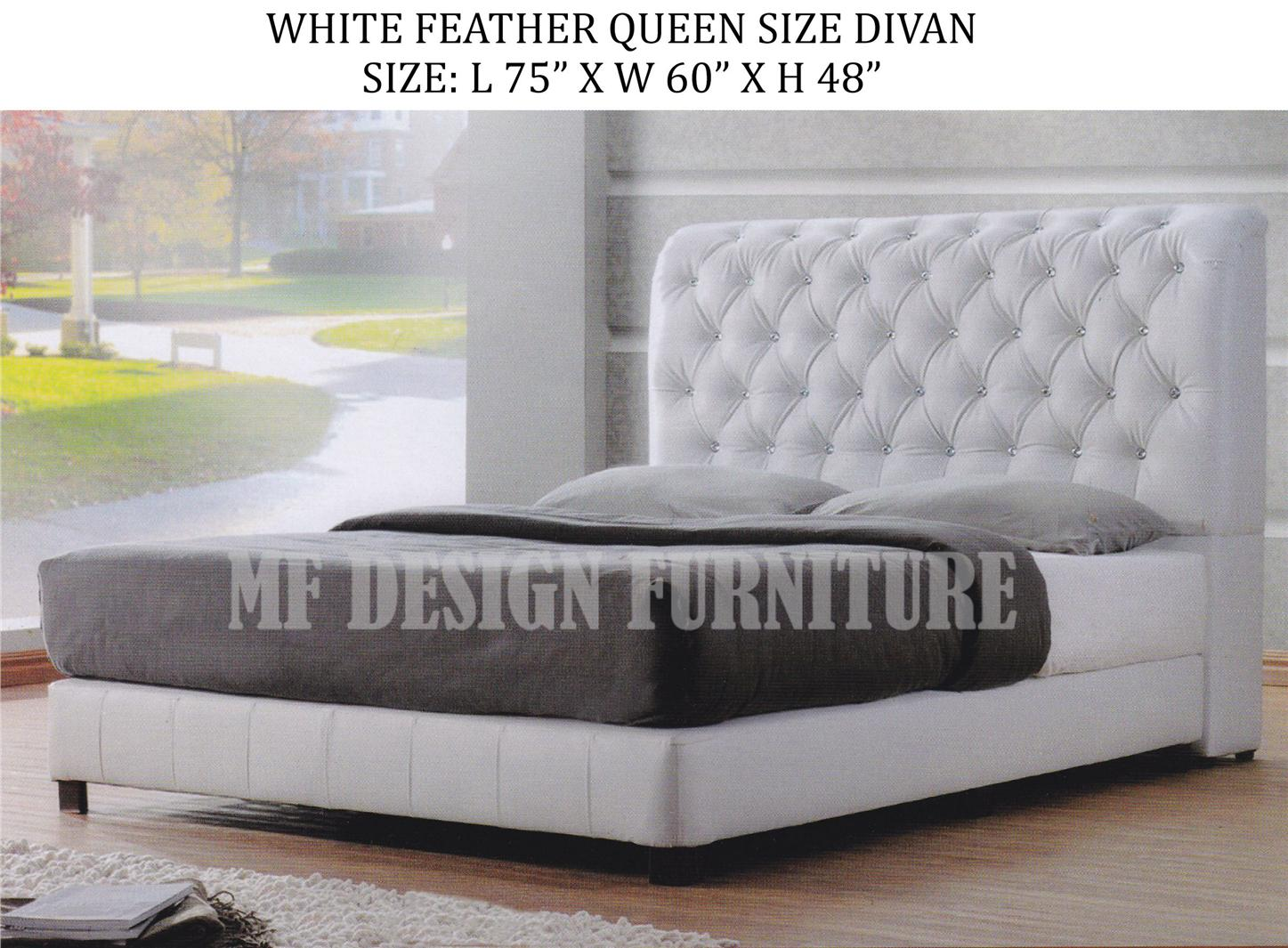 Mf design white feather queen end 4 12 2016 6 15 pm myt for Queen size divan