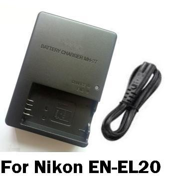 MH-27 MH27 Battery Charger For Nikon EN-EL20 J1 1J1 1J2 J2