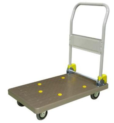 MHE Trolley Hand Truck 1 Handle Platform Foldable 150 Kgs PVC Brown