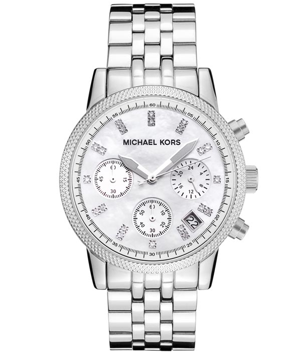 Michael Kors MK5020 Ritz Chronograph Silver Women's Watch