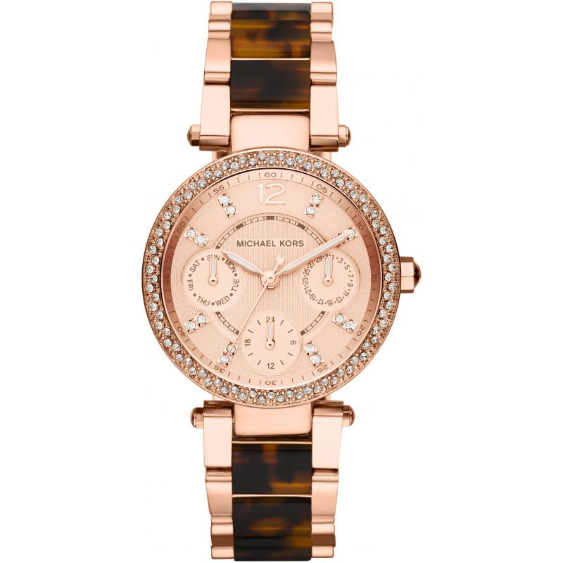 Michael Kors MK5841 Mini Parker Rose Gold Tortoise Women's Watch
