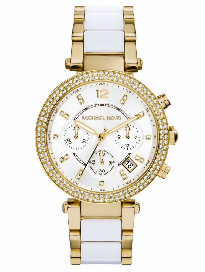 Michael Kors MK6119 Women's Parker Pave Gold-Tone Acetate Watch