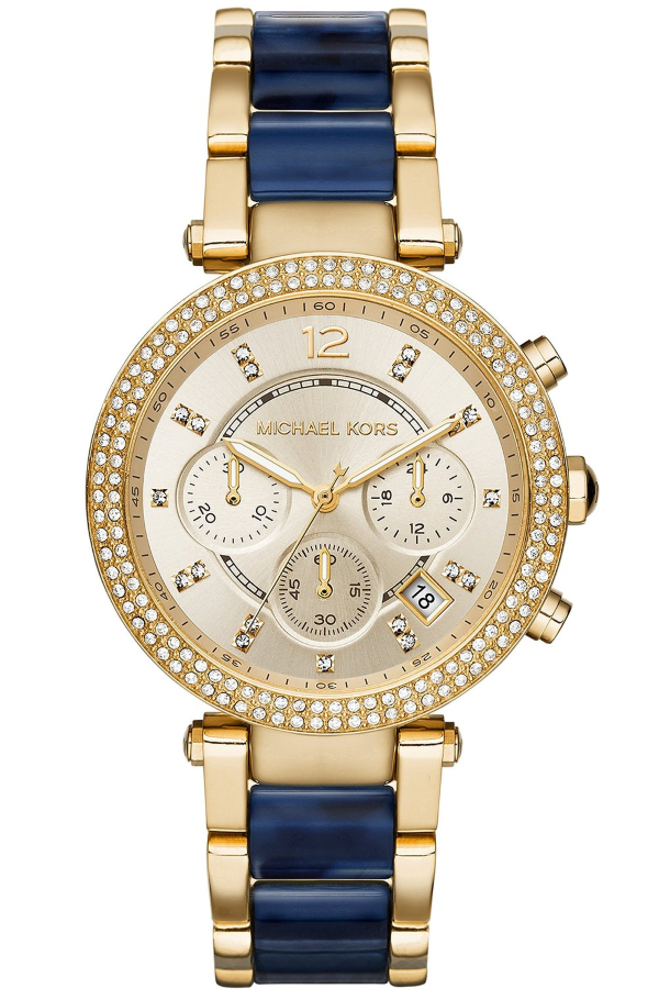 Michael Kors MK6238 Women's Parker Gold Tone Chronograph Watch