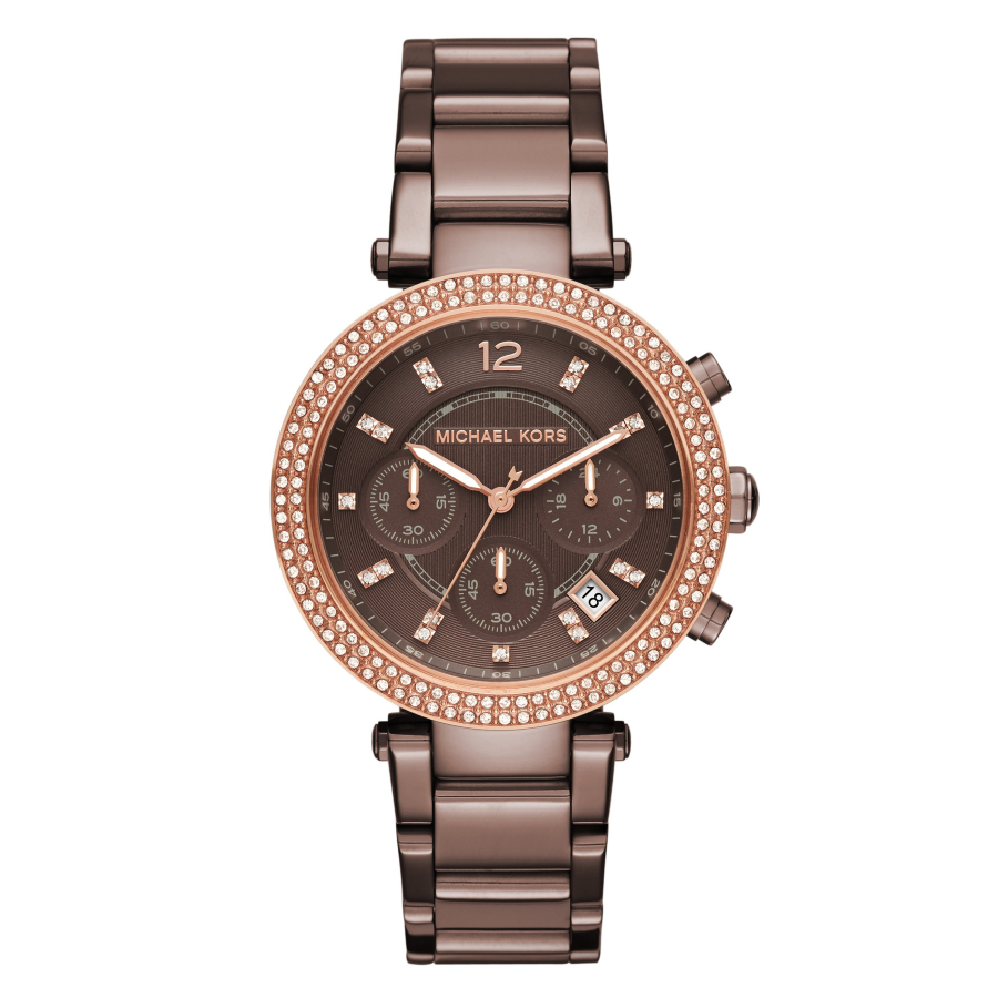 Michael Kors MK6378 Women's Sable Chronograph Brown Steel Watch