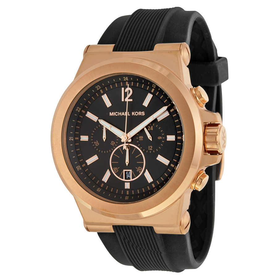 Michael Kors MK8184 Men's Dylan Chronograph Silicone Strap Watch