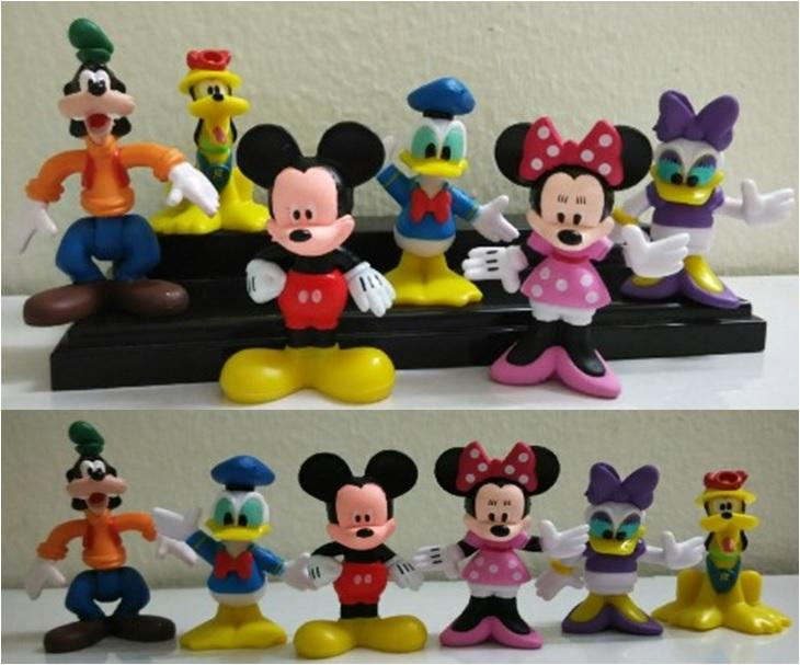 Mickey Mouse, Goofy, Minnie, Pluto, Donald Duck Cake Topper -MMCT11