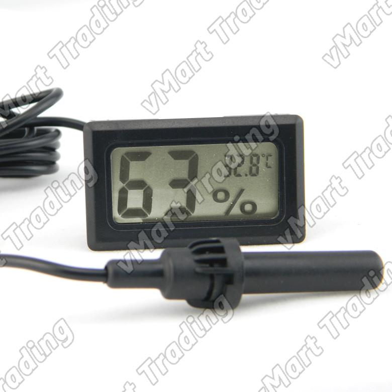 Micro Digital Humidity Hygrometer Thermometer with external sensors