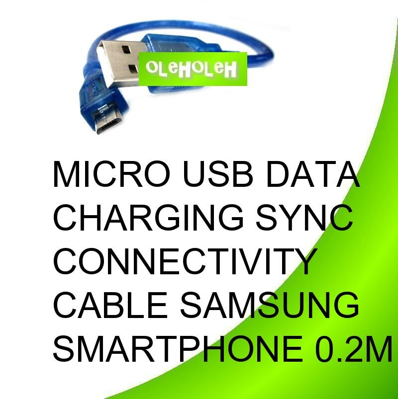Micro USB Data Charging Sync Connectivity Cable Samsung Smartphone 0.2