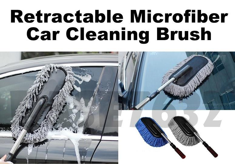 Microfiber Car Wash Cleaning Brush Cloth w/ Extendable Handle
