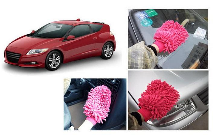 Microfiber Chenille Gloves Double Side For Car 【3 @ RM10】