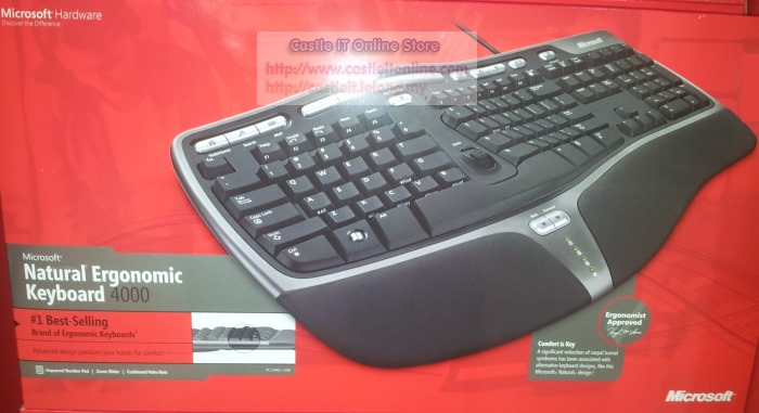 Microsoft Natural Ergonomic Keyboard  Black Bm