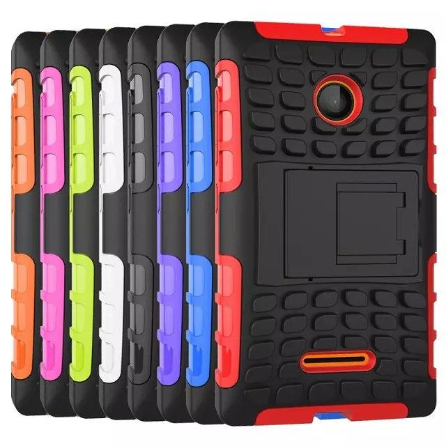 Microsoft Nokia Lumia 532 435 Tough Armor Back Case Cover Casing